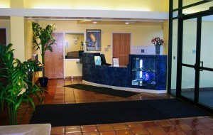 Front Lobby at the DuPage Swimming Center in Aurora, Illinois