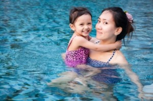 Parent and toddler swim lessons