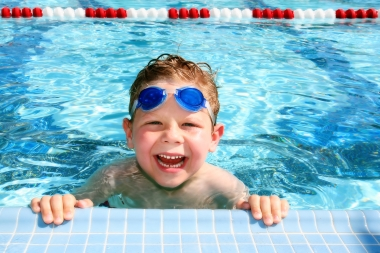 Overcoming fear of swimming in pools